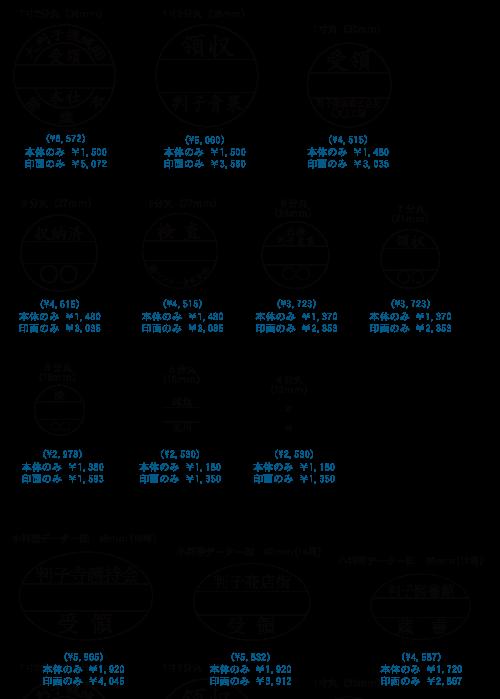 ゴム印価格-データ印